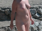 Grown men and women being naked and having sex outdoor